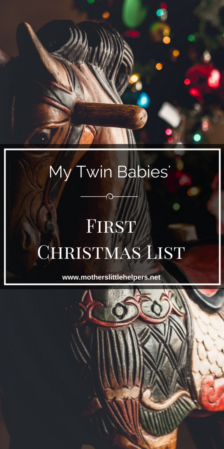 My Twin Babies' First Christmas List