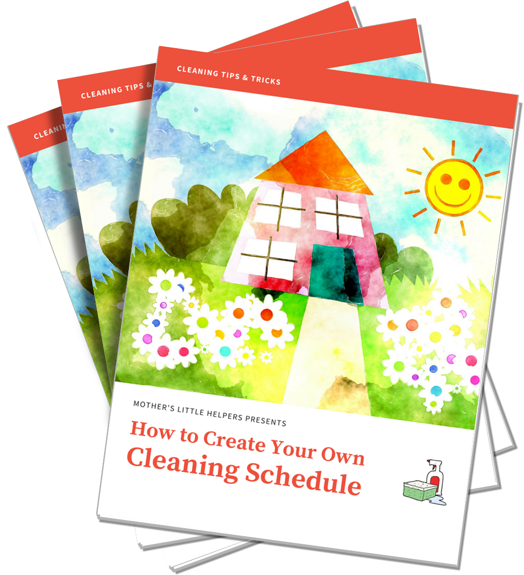 Cleaning Schedule ebook cover_transparent_stack